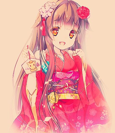 [ Follow_me ♡ ] Anime Girl Kimono Beautiful