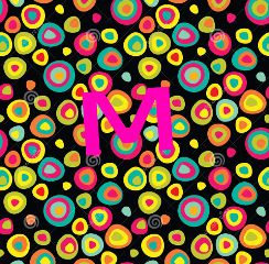 monogram colorful whimsical 1