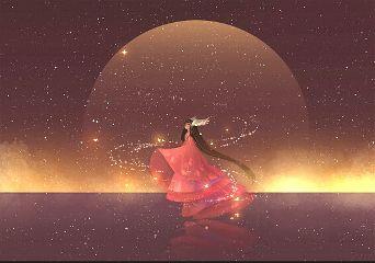 anime cute colorful good night