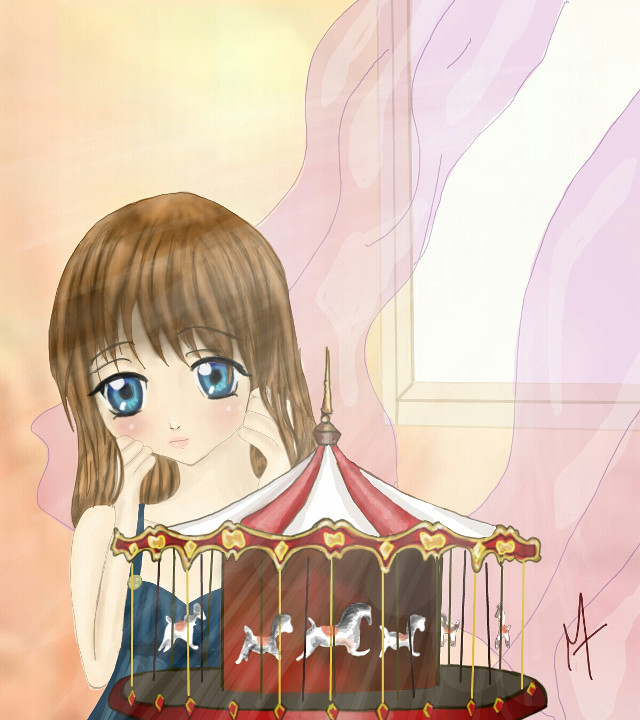 My drawing for the carousel contest. I tryed to have an original aproach by drawing a carousel toy in a bedroom.