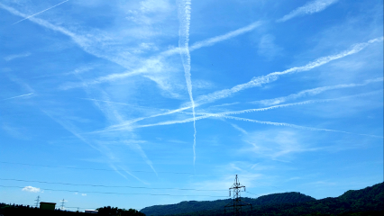 sky trails stripes contrails chemtrails