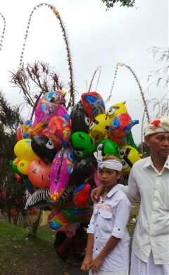 balloon colorful people