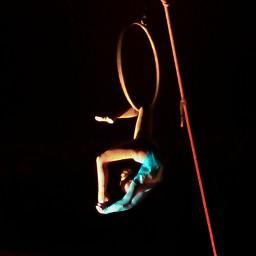 aerialist acrobat circus lyra hoop