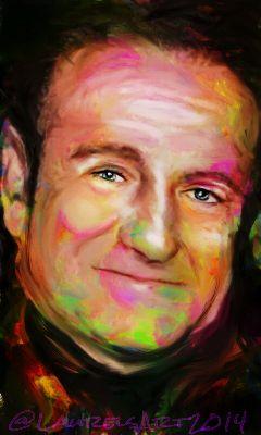riprobinwilliams art comedian actor drawing