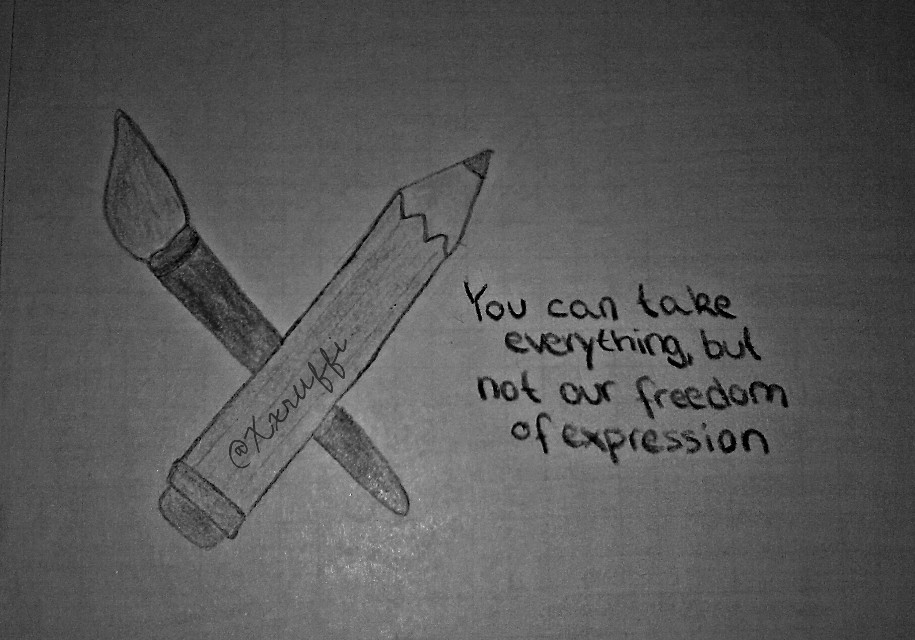 I realy have no talent at drawing -.- but yeah, shit on it XD   #charliehebdo