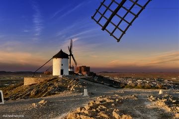 photography consuegra spain windmills sunset