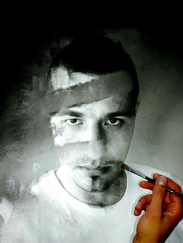 #portrait #blackandwhite #edit #photography #self-portrait #WAPillusion