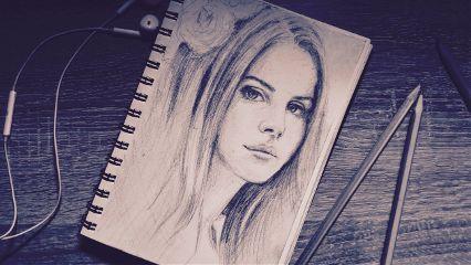 lanadelrey drawing