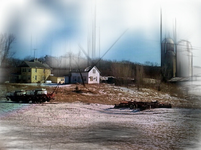#pencilart #farm #farmingequipment #farmhouses #silos